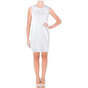NWT Ralph Lauren White Denim Sleeveless Fray Dress
